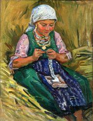 Болгарская девушка. Вышивальщица