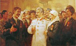 Сталин награждает героев в Георгиевском зале Кремля