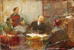 Ленин с детьми этюд к картине